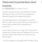 Charity event to promote dance, cancer awareness