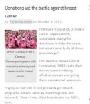 Donations aid the battle against breast cancer