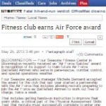 Fitness Club earns Air Force award