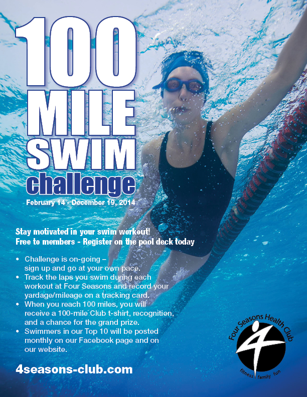 100 Mile Swim Challenge @ Four Seasons I | Bloomington | Illinois | United States