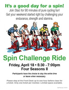 Spin Challenge Ride @ Four Seasons II