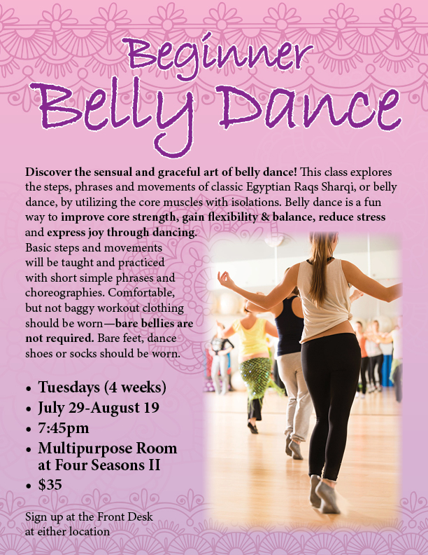 Beginner Belly Dance @ Four Seasons II - Multi Purpose Room