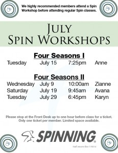 Spin Workshop @ Four Seasons II