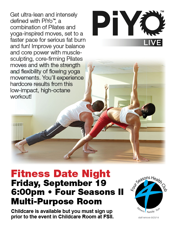 Fitness Date Night - PiYo Live! @ Four Seasons II - Multi Purpose Room