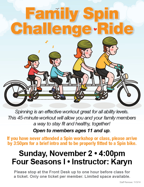 Family Spin Challenge Ride @ Four Seasons I