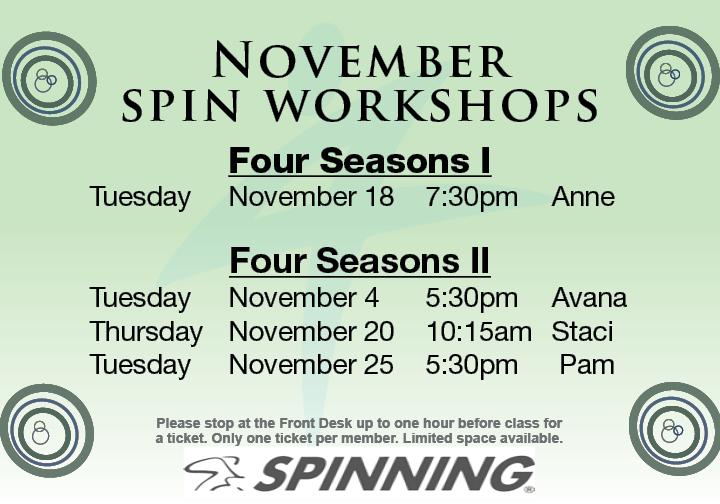 Spin Workshop @ Four Seasons I