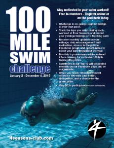 100 Mile Swim Challenge 2015