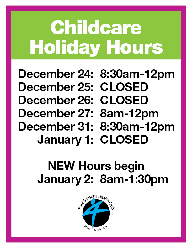 Childcare Holiday Hours2015