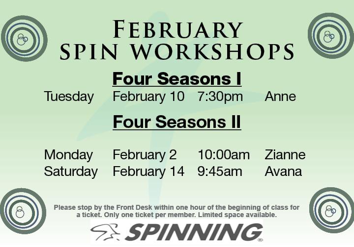 Spin Workshop @ Four Seasons II