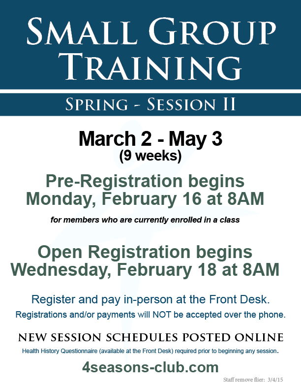 Small Group Training Registration
