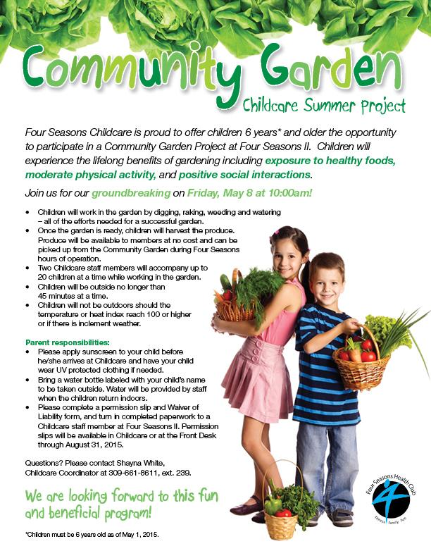 Community Garden Project Four Seasons Health Club