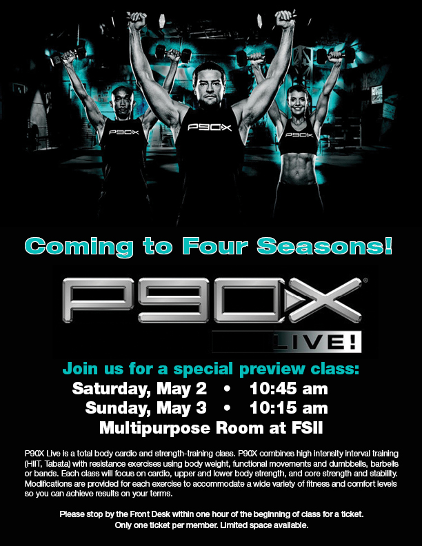 P90X at Four Seasons! @ Four Seasons II - Multipurpose Room