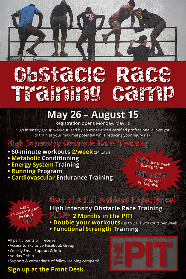 Obstacle Race Training Camp - Registration Opens