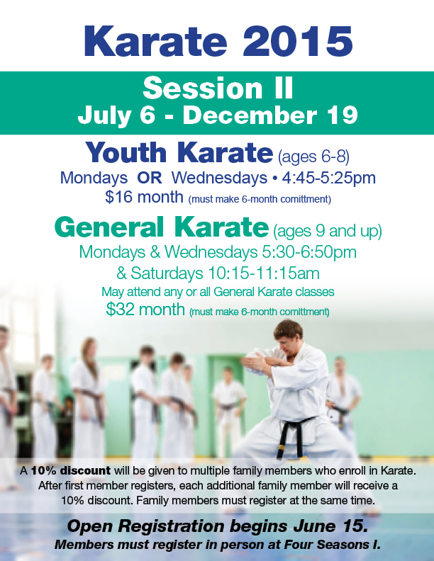 Karate Open Registration