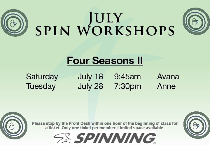Spin Workshop @ Four Seasons II - Spin Studio