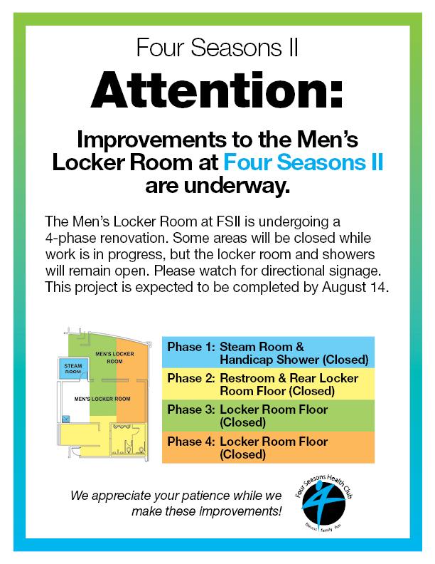 Men's Locker Room Renovation FSII