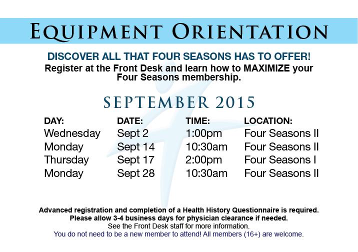Equipment Orientation @ FS II
