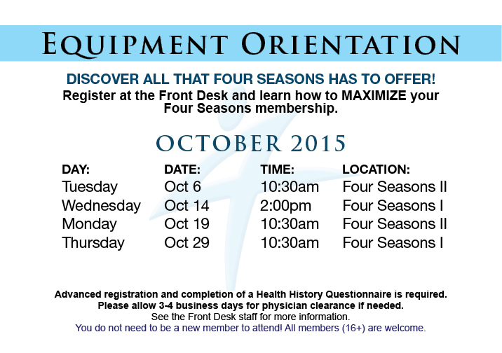 Equipment Orientation @ FSI
