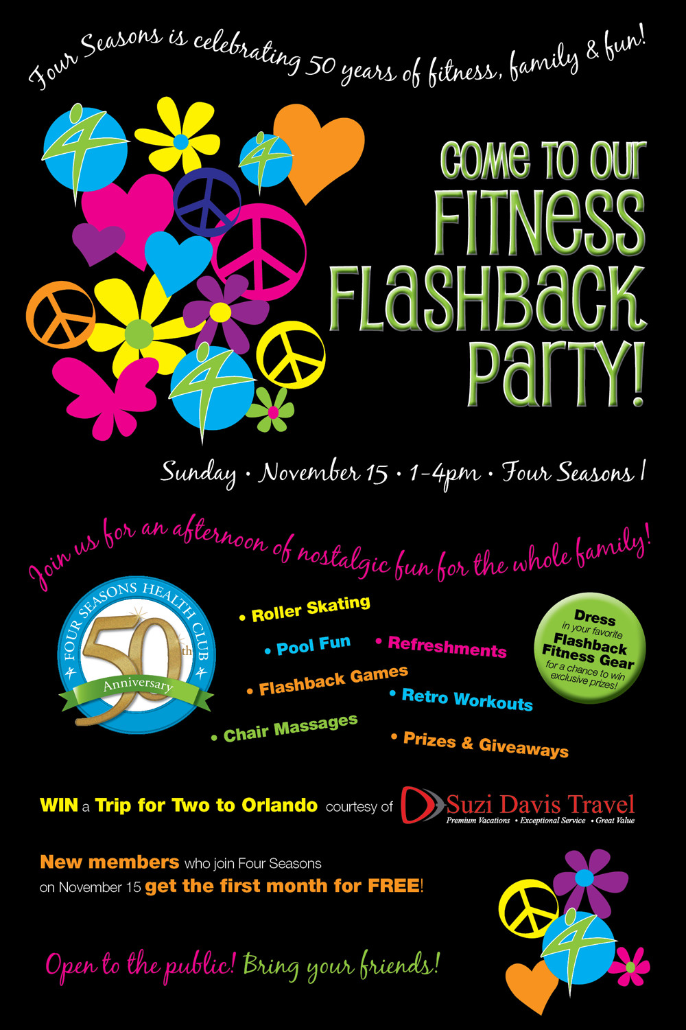 Come to our fitness flashback party!