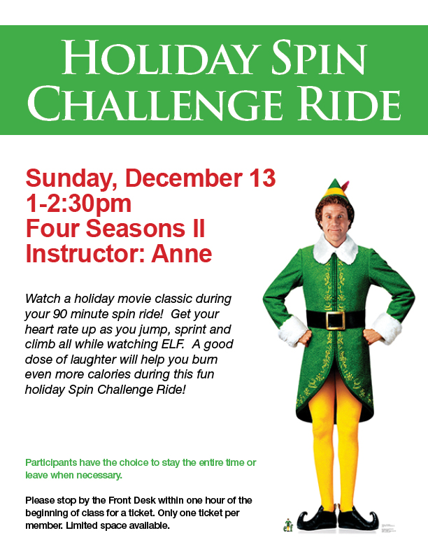 Holiday Spin Challenge Ride @ Four Seasons II