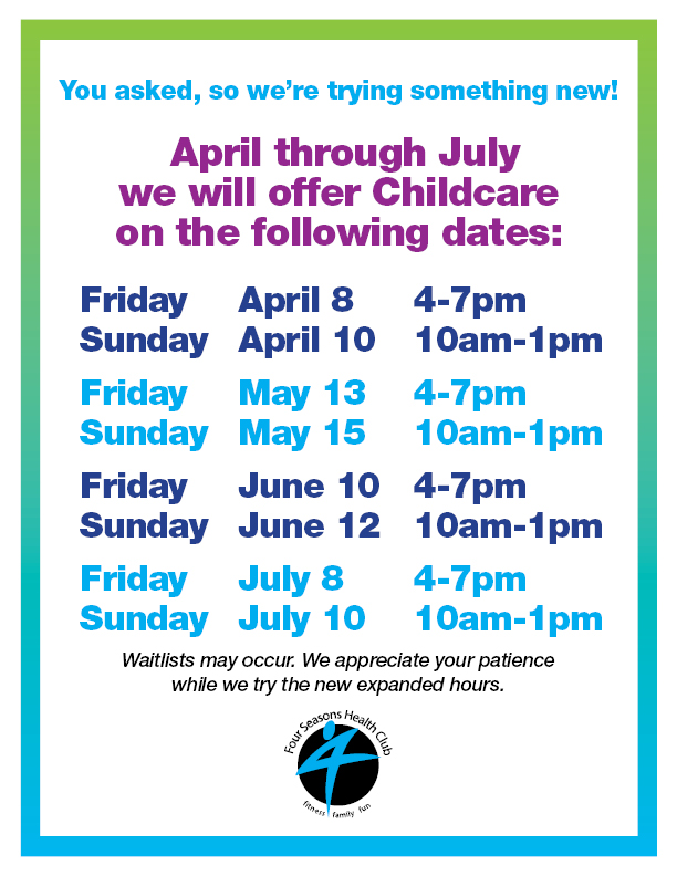 New Childcare Hours!