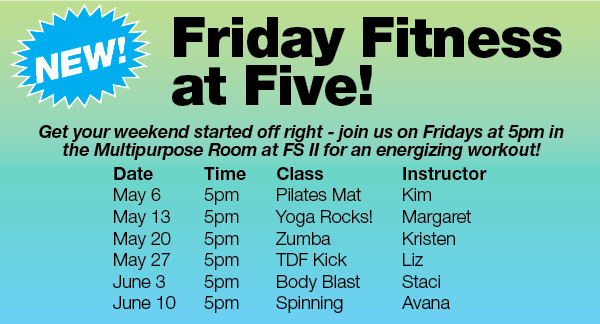 Friday Fitness at Five! @ FSII Multipurpose Rm