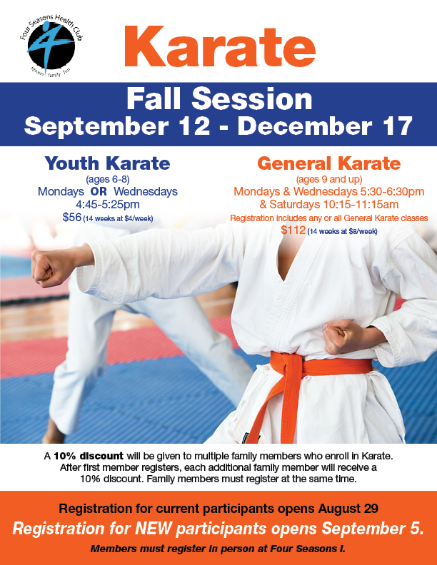 Karate Fall 2016 - Open Registration