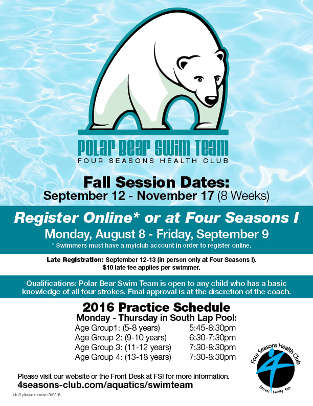 Polar Bear Swim Team Registration