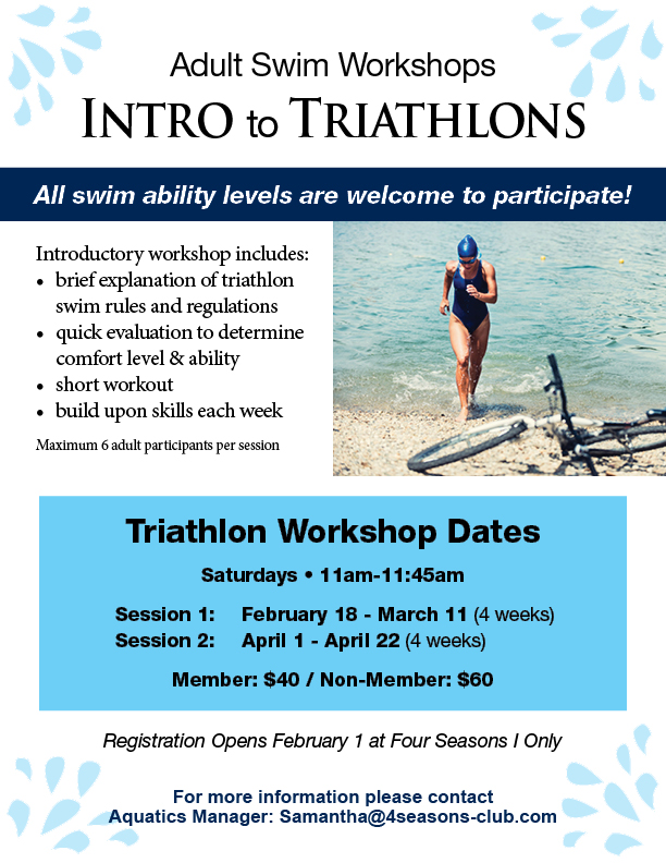 Adult Triathlon Workshops Winter 2017