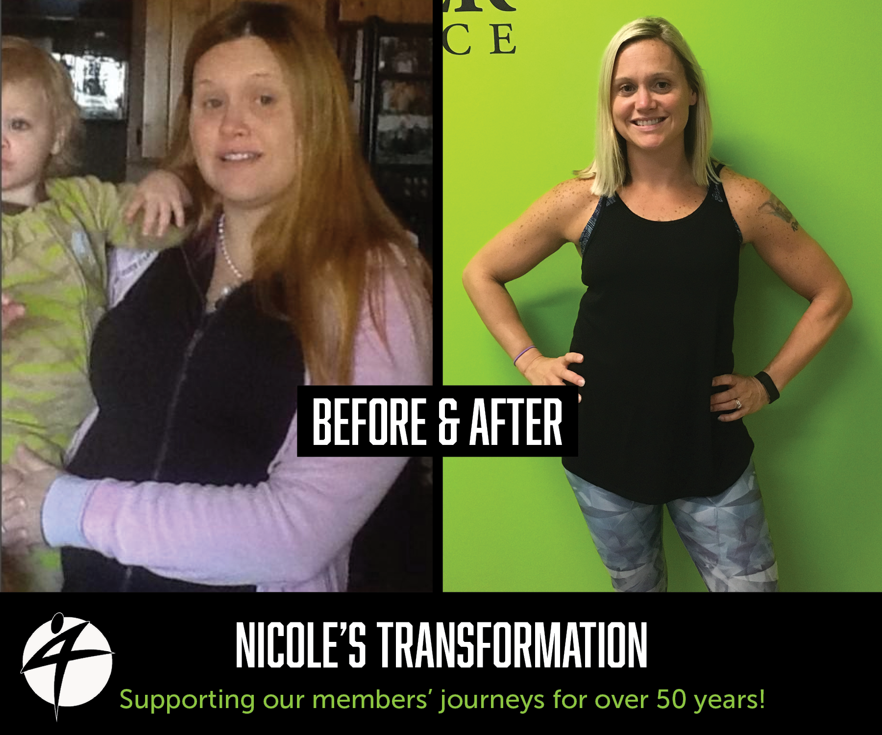 Nicole's before and after photo